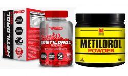 Combo Anabolic Testo Metildrol Pré Hormonal 60 Tabs + Metildrol Powder 200g  - Red Series