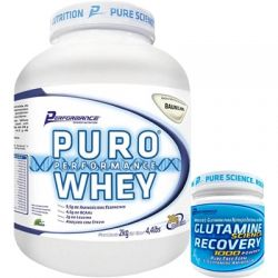COMBO  PURO WHEY ( 2KG ) + GLUTAMINA 300G   PERFORMANCE NUTRITION