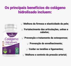 Colágeno Hidrolisado com vitamina C em capsulas