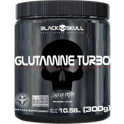 Glutamina Turbo Caveira Preta (300g) - Black Skull | Imunidade Máxima!