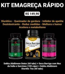 Kit Emagreça Rápido (03 potes)