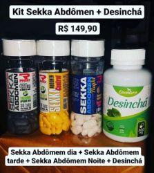 Kit Sekka Abdomem + Desinchá ( 04 potes)