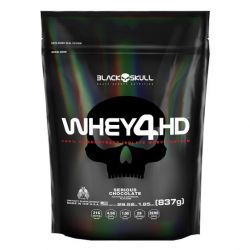 Refil Whey 4hd 837g Black Skull