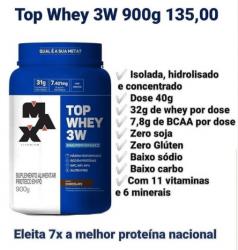 Top Whey 3W (900g) Linha Mais Performance - Max Titanium